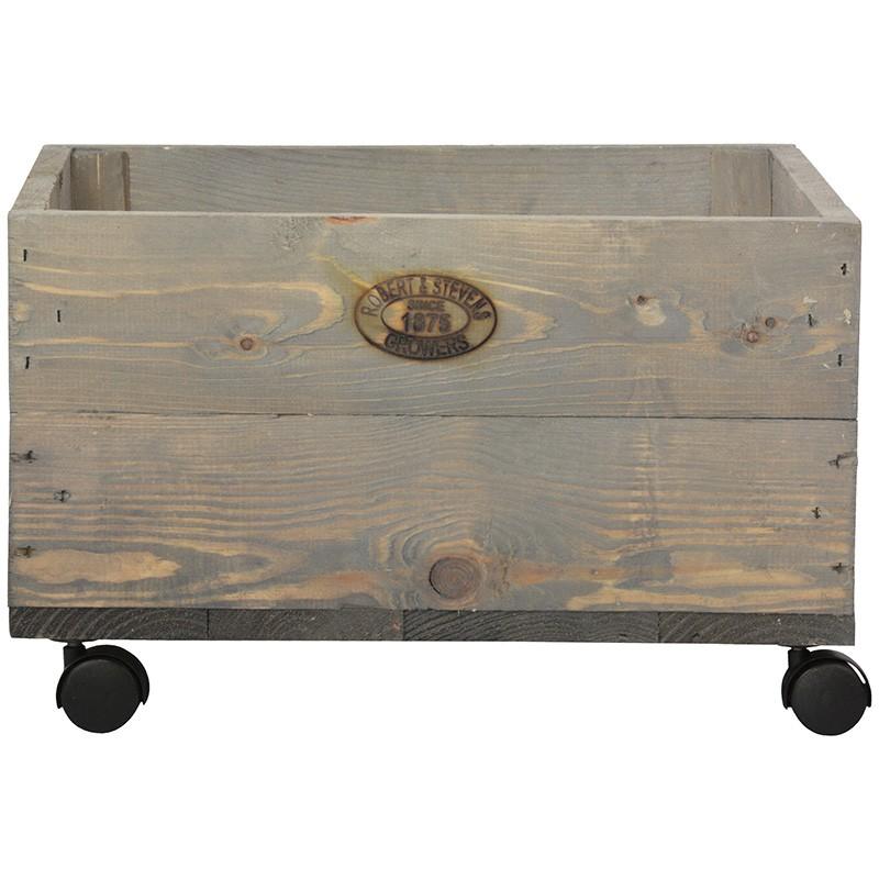Comprar jardinera madera peque a con ruedas - Jardineras con ruedas ...