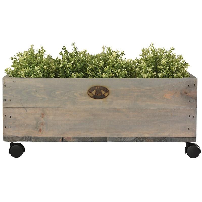 comprar Jardinera madera mediana con ruedas
